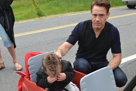 Robert Downey Jr. comforted Jaxson when he started to cry.